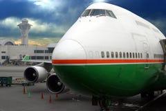 Flugzeug betriebsbereit zum Abflug Stockfotografie