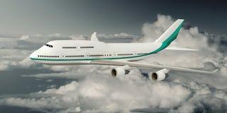 Flugzeug Boeings 747 Lizenzfreies Stockfoto