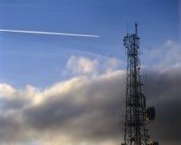 Flugzeug-Dampf-Spur Stockfotografie