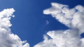 Flugzeug, das über Wolken, Animation 3d fliegt vektor abbildung