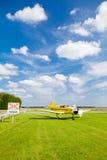 Flugzeug an den Kreuzungen Lizenzfreies Stockbild