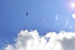 Flugzeug in der Luft Lizenzfreies Stockfoto