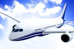 Flugzeug in der mittleren Luft Stockbilder