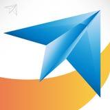 Flugzeug des blauen Papiers lizenzfreie abbildung