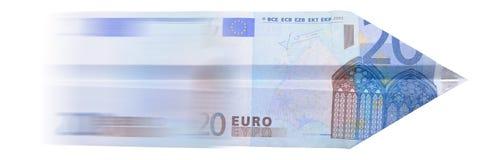 Flugzeug des Euro 20 Stockfoto