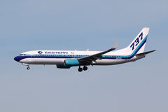 Flugzeug Eastern Air Liness Boeing 737-800 Miami-Flughafen Lizenzfreie Stockfotos