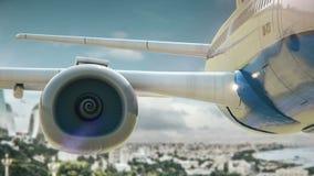 Flugzeug entfernen Baku Azerbaijan lizenzfreie abbildung