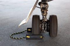 Flugzeug-Fahrwerk Stockfoto