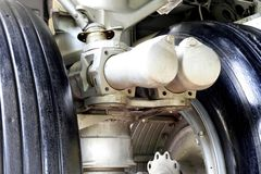 Flugzeug-Fahrwerk-Details stockfotografie