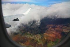 Flugzeug-Fenster lizenzfreies stockbild