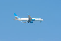 Flugzeug-Flugliniensieglandung Lizenzfreie Stockfotografie