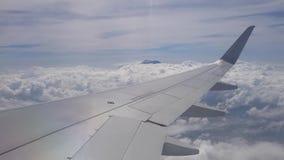 Flugzeug-Flugwesen über den Wolken stock footage
