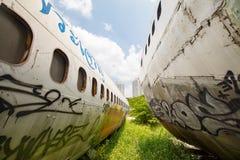 Flugzeug-Friedhof Bangkok Lizenzfreies Stockbild