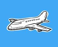 Flugzeug-Gekritzel Lizenzfreie Stockfotos