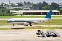 Flugzeug gerade eingestiegen Lizenzfreies Stockfoto