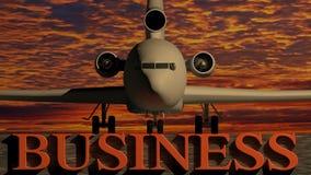 Flugzeug-Geschäft Lizenzfreie Stockfotos