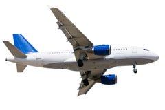 Flugzeug getrennt lizenzfreie stockfotos