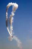 Flugzeug-Haarnadel-Schleife Stockfoto