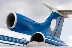 Flugzeug-Heck-Leitwerk Stockbild