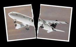 Flugzeug im Fotopapier Lizenzfreies Stockfoto