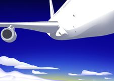 Flugzeug im Himmel Lizenzfreies Stockbild