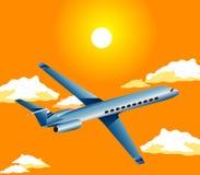Flugzeug im Himmel Lizenzfreie Stockbilder