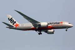Flugzeug Jetstar Airwayss Boeing 787 Dreamliner Lizenzfreie Stockbilder