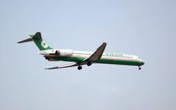Flugzeug kommt für eine Landung herein Stockfoto
