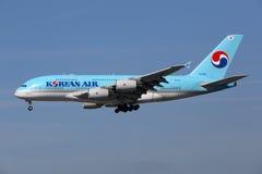 Flugzeug Korean Airs Airbus A380 Lizenzfreie Stockfotografie