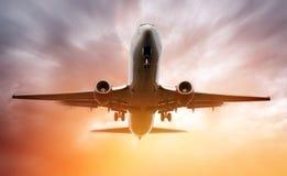 Flugzeug-Landung Lizenzfreie Stockfotos