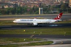 Flugzeug-Landung Stockbilder