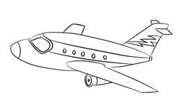 Flugzeug - Linie gezeichneter Vektor Stockfoto