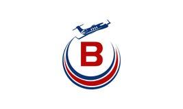 Flugzeug Logo Initial B Stockfotos