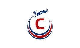 Flugzeug Logo Initial C Lizenzfreie Stockfotografie