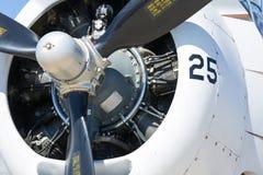 Flugzeug-Maschine Stockfoto