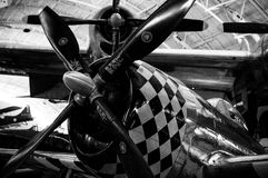 Flugzeug-Maschine Stockfotos