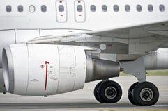 Flugzeug-Maschine stockfotografie