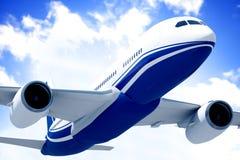 Flugzeug in Mid Air Lizenzfreie Stockbilder