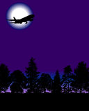 Flugzeug mit Bäumen Lizenzfreie Stockfotos