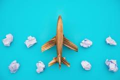 Flugzeug mit blinder Wolke Lizenzfreie Stockfotografie