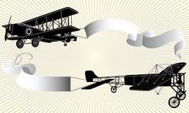 Flugzeug mit Farbband Stockfotos