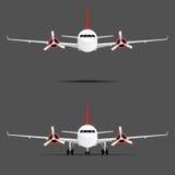 Flugzeug mit Motoren mit gesetzter Illustration des Propellers stock abbildung