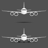 Flugzeug mit vier Motoren stellte Illustration ein vektor abbildung