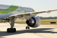 Flugzeug-Motor-Abschluss Stockbild