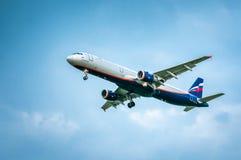Flugzeug-Name Airbusses A321-211 - K Stanislavsky VP-BTG Stockbilder