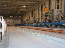 Flugzeug-Produktions-Fabrik Stockfoto