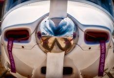 Flugzeug-Propeller - nahes hohes Stockbild