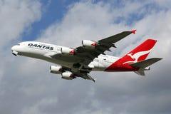Flugzeug Qantass Airbus A380 Stockbilder