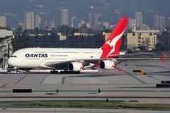 Flugzeug Qantass Airbus A380-800 Stockfotografie