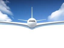 Flugzeug-realistisches Plakat Lizenzfreie Stockbilder